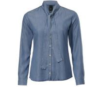 Jeansbluse mit Schluppe blue denim