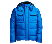 Gesteppte und Wattierte Jacke blau