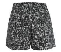 Bedruckte Shorts schwarz / weiß