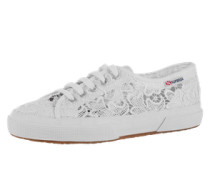 Sneaker aus Spitze weiß
