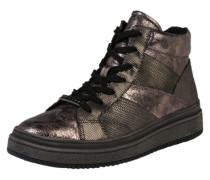 Sneaker mit Glanz-Finish anthrazit