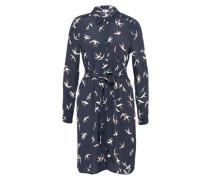 Blusenkleid 'bird' creme / nachtblau