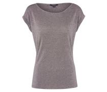 Glitzer-Shirt taupe