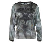 Bedrucktes Shirt 'Seidenshirt Rockstars' khaki
