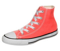 'Chuck Taylor All Star Fresh Colors High Sneaker' Kinder neonorange