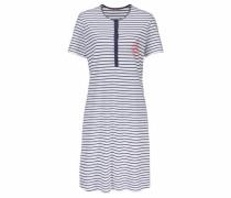 Nachthemd im Marine-Look marine / weiß