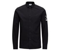 Struktur-Hemd schwarz