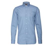 Hemd mit filigranem Muster 'Cattitude' blau