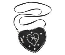 Trachtentasche in Herzform schwarz