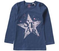Langarmshirt Stern für Mädchen blau