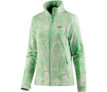 Fleecejacke 'kiruna Jungle' beige / mint