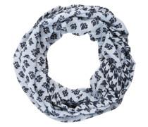 Loop mit Mustermix marine / hellblau