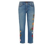 'Josefina' Cropped Jeans blau
