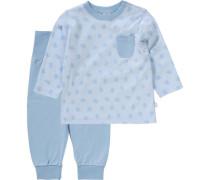 Baby Schlafanzug für Jungen hellblau