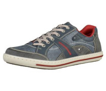 Sneaker himmelblau / stone / rot