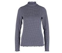 Shirt weiß / enzian