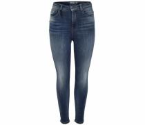 Posh hw Ankle Skinny Fit Jeans blue denim