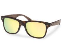 Sonnenbrille mit 'UV 400' Sonnenschutz braun / gelb