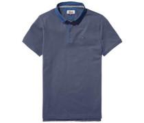Hilfiger Denim Poloshirt »Thdm Contrast Collar Polo S/S 14« blau