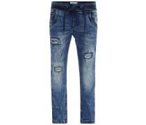Jeans Slim-Fit-Pull-On- blau / blue denim