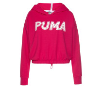Sweatshirt pink / weiß