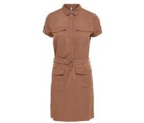 Kleid mit kurzen Ärmeln Cargo- braun