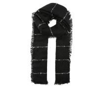 Grober Schal mit feinen Streifen schwarz