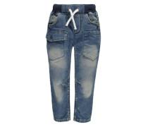 KANZ Jeans mit Gummibund blau