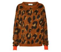 Pullover 'Lula' braun / orange / schwarz