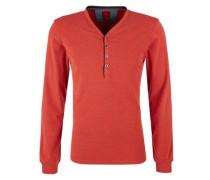 Henley-Shirt in meliertem Design