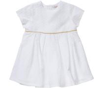 Kleid gold / weiß