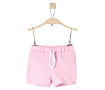 Leichte Jacquard-Shorts rosa / weiß