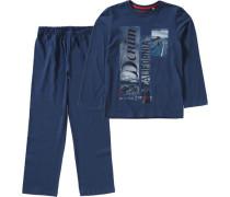 Schlafanzug für Jungen blau / marine