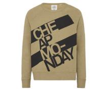 Sweatshirt 'Rules' oliv / schwarz
