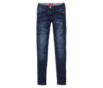 Skinny Suri: Warme Stretchjeans blue denim