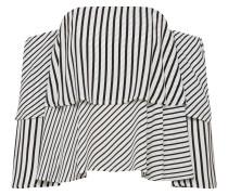 Off-Shoulder Bluse schwarz / weiß