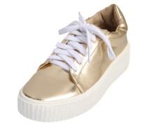 Metallic Plateau-Sneaker gold