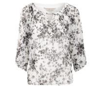 Tunika mit Alloverprint schwarz / weiß
