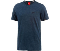 T-Shirt Herren blaumeliert