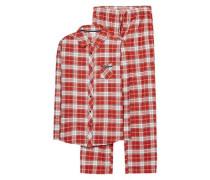 Schlafanzug 'Dora' rot / weiß