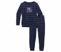 'Capt'n Sharky' Frottee Pyjama lang für Jungs blau