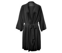 Kimonojacke mit Spitzenpasse schwarz
