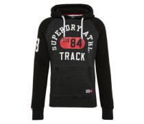 Sweatshirt 'trackster Baseball Hood' dunkelgrau / schwarz