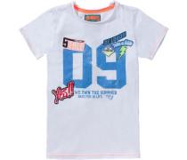 Baby T-Shirt für Jungen blau / weiß