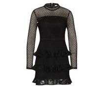 Kleid mit Netz-Elementen schwarz