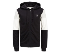 Lässiges Sweatshirt graumeliert / schwarz / weiß