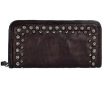'Lichene' Geldbörse Leder 21 cm schoko