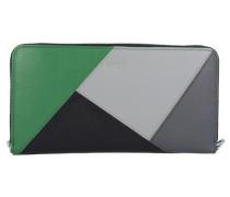 Lange Geldbörse 'Issy 131' grau / grün / schwarz