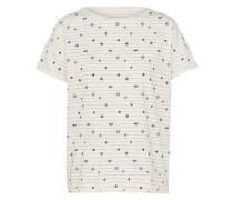 T-Shirt 'Boxy' navy / offwhite