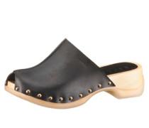 ESPRIT Esprit Clog aus Leder mit Nieten und 40mm Absatz schwarz